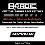 HEROIC Printed Leather Patch - Michelin