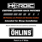 HEROIC Printed Leather Patch - Ohlins Black