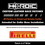 HEROIC Printed Leather Patch - PIRELLI Red