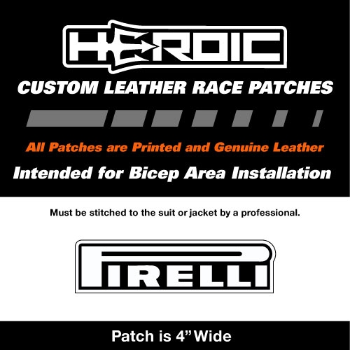 HEROIC Printed Leather Patch - PIRELLI White