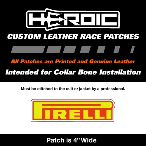 HEROIC Printed Leather Patch - PIRELLI Yellow