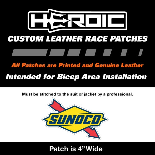 HEROIC Printed Leather Patch - SUNOCO