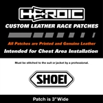 HEROIC Printed Leather Patch - SHOEI