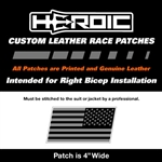 HEROIC Printed Leather Patch - USA Flag BG - Right Rush