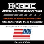 HEROIC Printed Leather Patch - USA Flag RWB - Left Rush