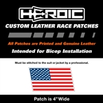 HEROIC Printed Leather Patch - USA Flag RWB - Right Rush