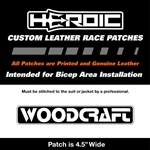 HEROIC Printed Leather Patch - Woodcraft