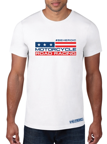 Men's TShirt - HEROIC #BEHEROIC American Road Racing Shirt
