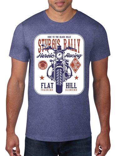 Men's TShirt - HEROIC Ride to the Hills Flat Track