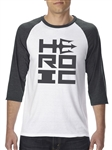 Men's TShirt - HEROIC Stacked Logo - Team HEROIC