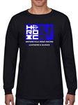 Men's TShirt - HEROIC Leathers - Black and Team Blue