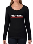 Women's TShirt - HEROIC Motorcycle Road Racing Leathers - Rep