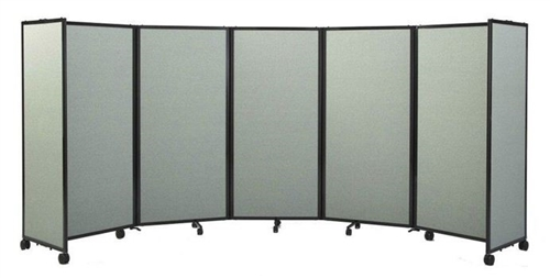 4ft tall portable room divider partition on wheels