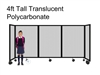 4ft Tall Portable Room Divider Translucent