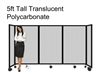 5ft Tall Portable Room Divider Translucent