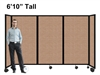 "6'10"" Ft Tall Portable Room Divider Partition on Wheels"