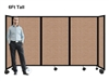 6Ft Tall Portable Room Divider Partition on Wheels
