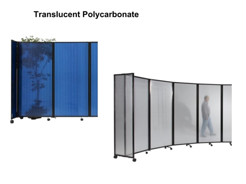 6ft Tall Portable Room Divider Partition 360 In Translucent Poly Carbonate