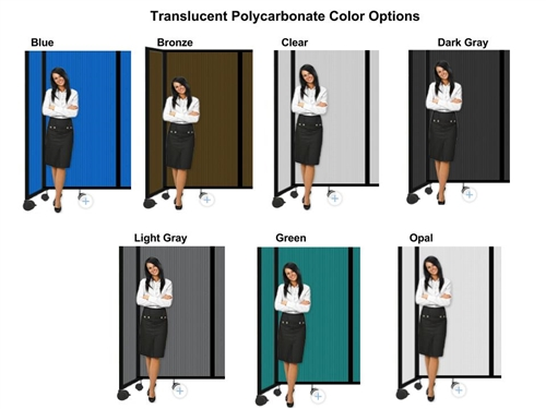 6ft tall portable room divider partition 360 in translucent