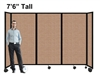 7Ft Tall Portable Room Divider Partition on Wheels