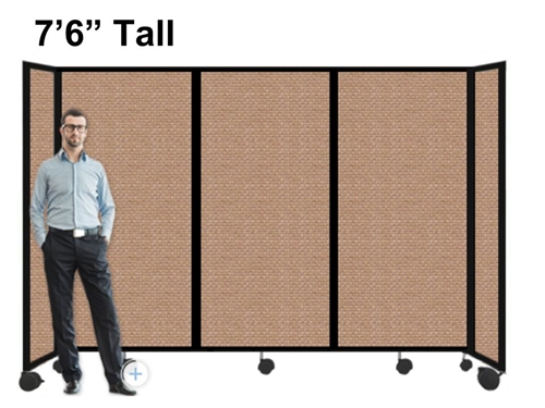 tall portable room divider partition on wheels