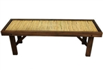 Japanese Bamboo Bench w/ Wood Frame