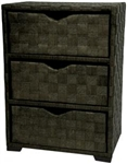 Natural Fiber Chest of Drawers - Three Drawer