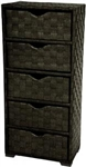 Natural Fiber Chest of Drawers - Five Drawer