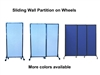 Portable Sliding Partition Wall Panel on Wheels
