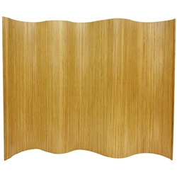 6 ft. Tall Bamboo Wave Room Screen (more finishes)