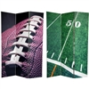 6 ft. Tall Double Sided Football Canvas Room Divider Screen