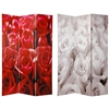 6 ft. Tall Double Sided Roses Room Divider
