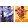 6 ft. Tall Double Sided Works of Van Gogh Canvas Room Divider Screen 4 Panel