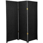 Tall Woven Fiber Room Divider Screen More Panels And Colors Available