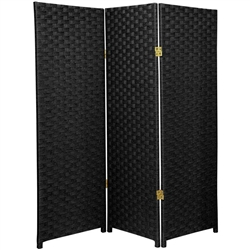 4 ft. Tall Woven Fiber Room Divider Screen (more panels and colors available)
