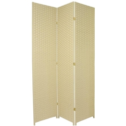 7 ft. Tall Woven Fiber Room Divider Screen (more panels & colors)