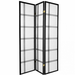 6 ft. Tall Double Cross Shoji Screen-(more panels & finishes)
