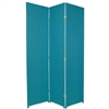 6ft Tall Pastel Colors Woven Fiber Room Divider Screen