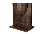 "Outdoor Wicker Flower Plant Pot Divider Partition (2ft - 3'4""ft heights)"