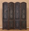 Royale Wood/Leather Folding Screen