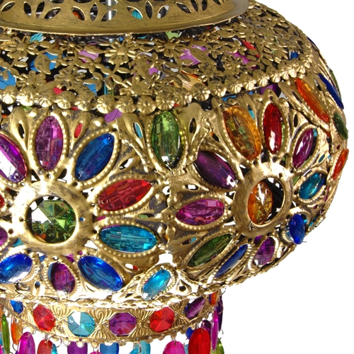 Multi Color Dome Jeweled Hanging Lamp