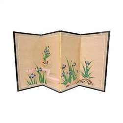 3ft Blue Pond Of Life Decorative folding screen