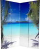 6 ft. Tall Double Sided Ocean Room Divider Screen 4 Panel