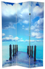 6 ft. Tall Double Sided Ocean Room Divider Screen