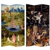 7 ft. Tall Double Sided Garden of Delights Canvas Room Divider Screen