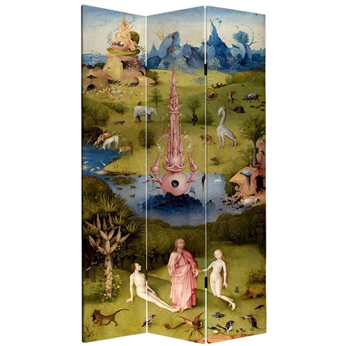Tall Double Sided Garden Of Delights Canvas Room Divider Screen