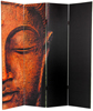 6 ft. Tall Double Sided Buddha and Ganesh Canvas Room Divider 4 Panel