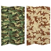 6 ft. Tall Double Sided Camouflage Canvas Room Divider