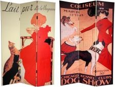 6ft Tall Dogs & Cats Room Divider Screen Chicago
