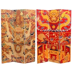 6 ft. Tall Dragon of the Red Chamber Double Sided Room Divider